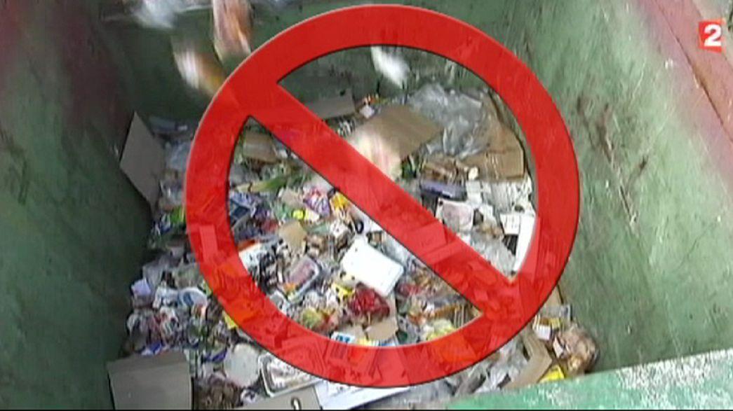 Prohibido despilfarrar comida en Francia