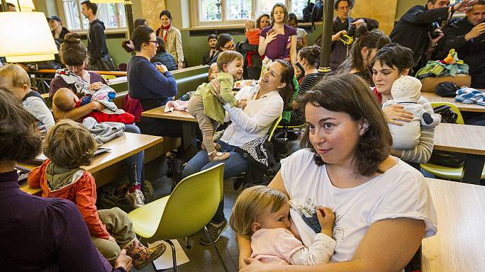 Mothers in Budapest occupy McDonald's restaurant over right to breast feed