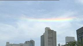 Mysteriöser Regenbogen in Japan