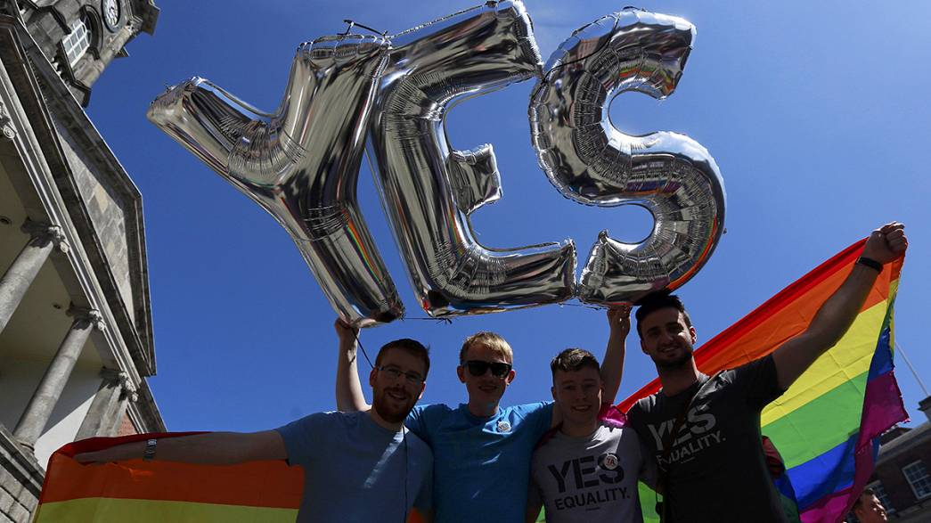 Ireland 'says overwhelming yes' to same-sex marriage in referendum