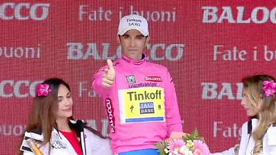 Giro d'Italia: Kiryienka clinches stage 14, Contador back in pink