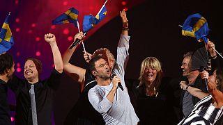 Ambiance festive dans les coulisses de l'Eurovision