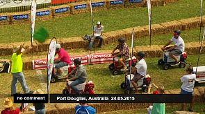 Wer hat die schnellste Eisbox? Lustiges Sonntagsvergnügen in Australien