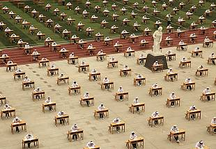 China puts open-air exams to the test