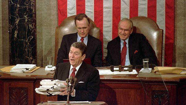 Image: Ronald Reagan, George H.W. Bush, Jim Wright