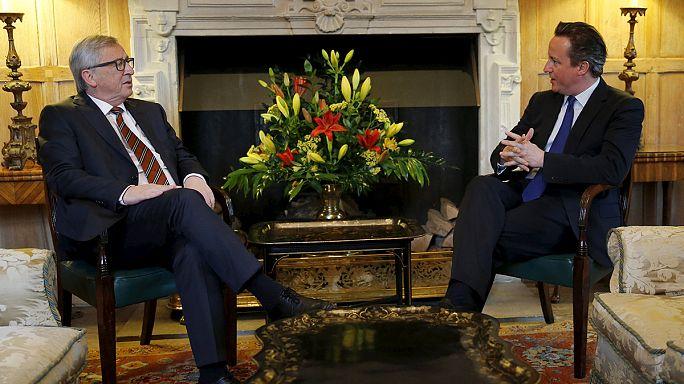 كاميرون يلتقي يونكر في إطار حملته للتفاوض بشأن عضوية بريطانيا داخل الاتحاد الاوروبي