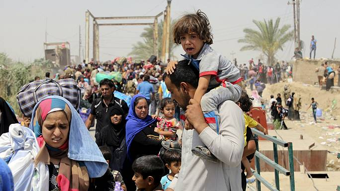 استمرار تدفق النازحين من الانبار إلى بغداد