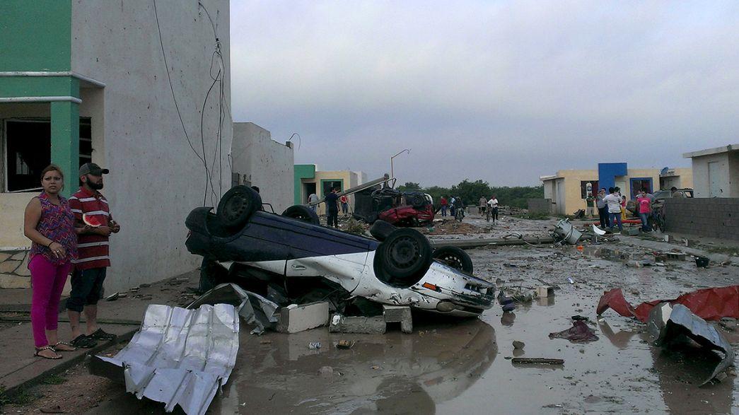 إعصار يضرب المكسيك والولايات المتحدة ويتسبب في خسائر مادية وبشرية