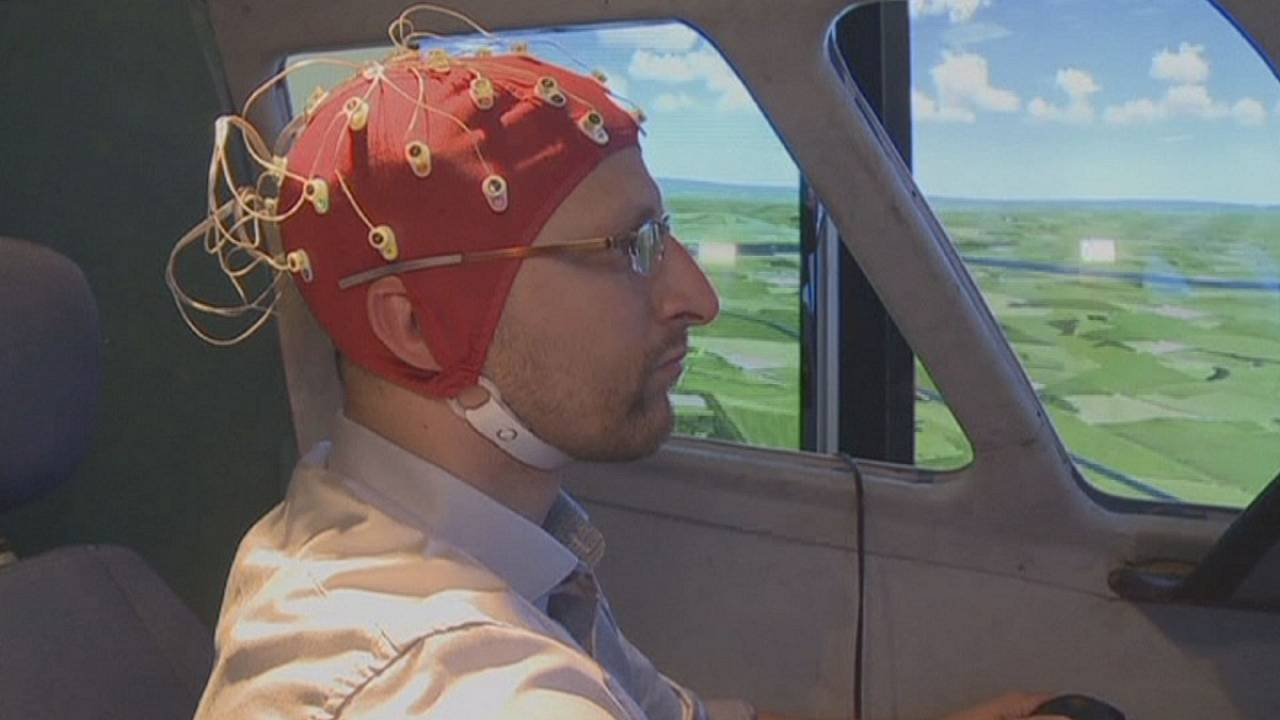 Tracking pilots' brains to reduce risk of human error