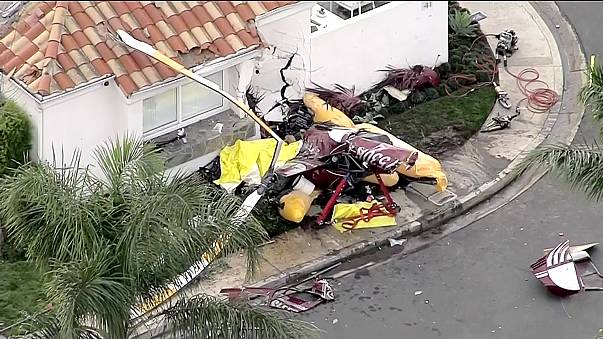 Image: Newport Beach, California, helicopter crash