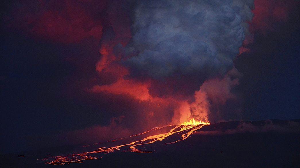 """Equador: Despertar do vulcão Wolff abala o """"paraíso"""" de Darwin"""