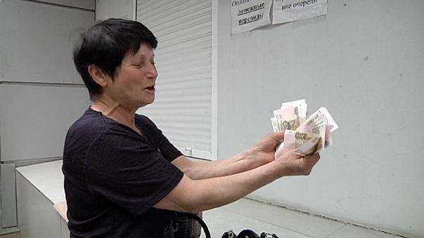 Donetsk'te emekliler perişan