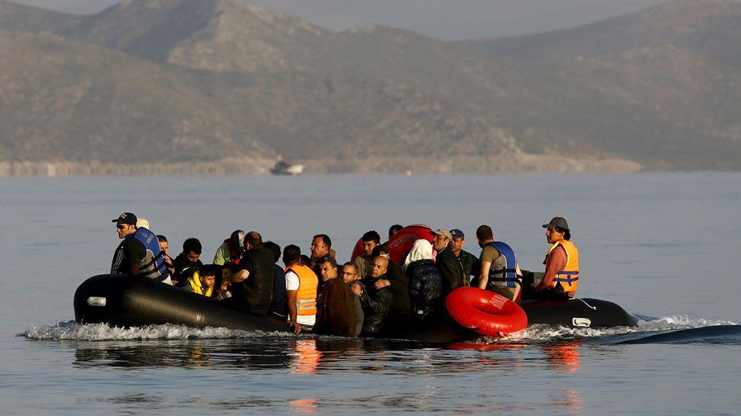 Cerca de 300 inmigrantes clandestinos llegaron el martes a las costas griegas