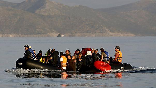 Yunan adalarına göçmen akını