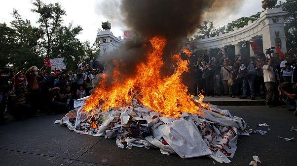 México: protesta en memoria de los 43 estudiantes desaparecidos
