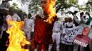 Buddhist effigy burnt in Indonesia