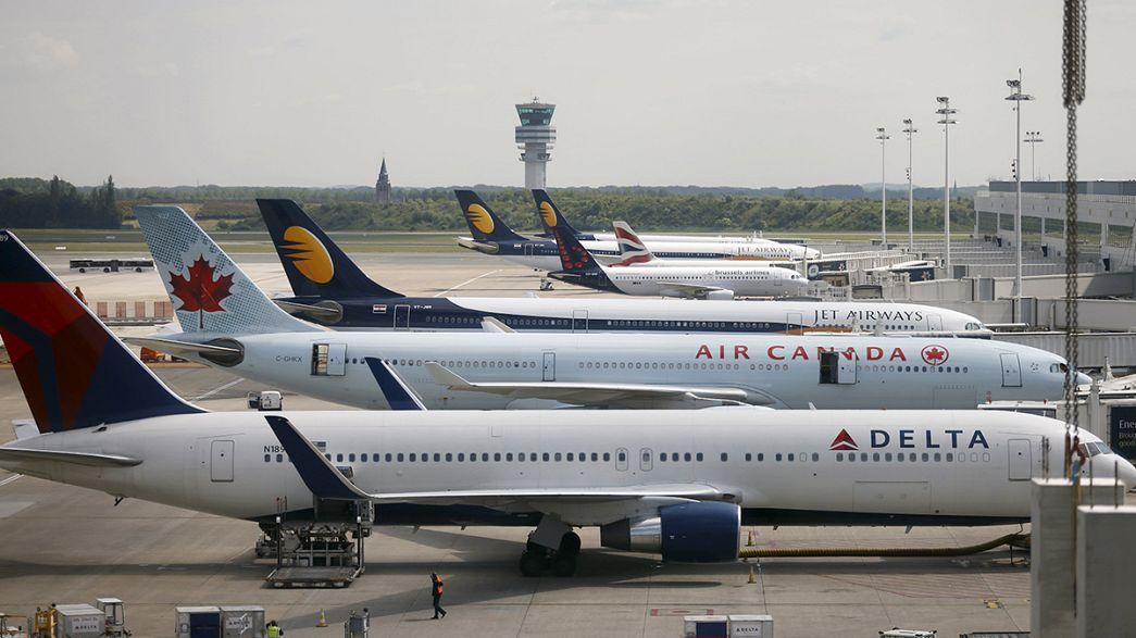 Kaotikus szerda a belga légtérben