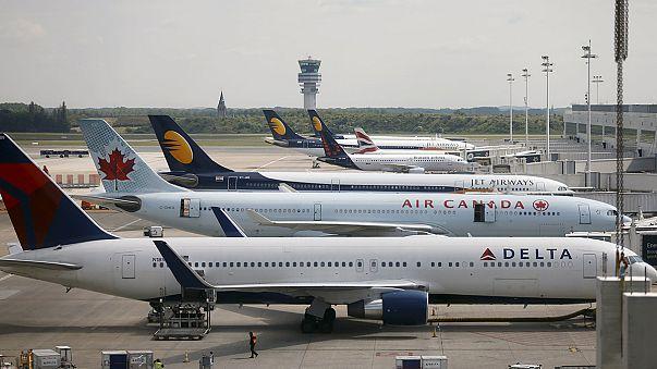 Belçika'da hava ulaşımı felce uğradı