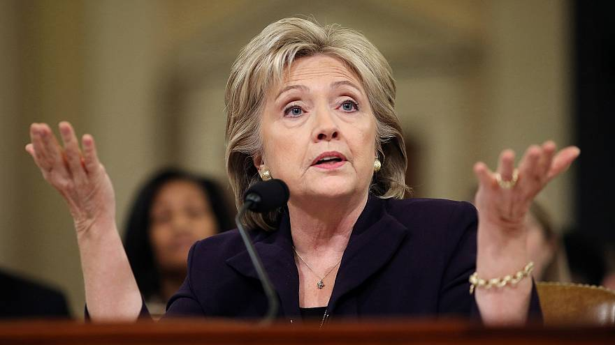 Image: Hillary Clinton testifies before the House Select Committee on Bengh