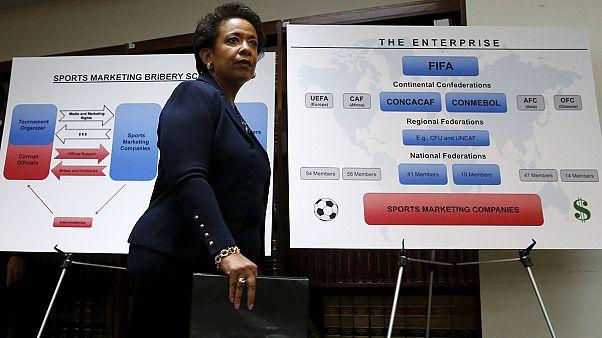 """وزيرة العدل الامريكية تقول إن بلادها ستسعى لتسلم مسؤولي """"فيفا"""" المتهمين بقضايا فساد"""