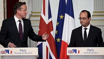 """David Cameron à Paris : les Européens doivent être """"imaginatifs"""""""