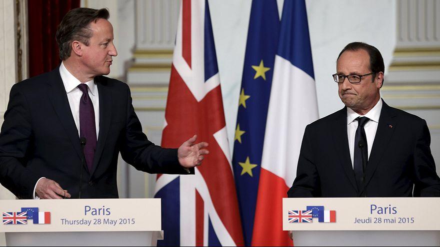 Cameron expone en París sus planes de reforma de la UE