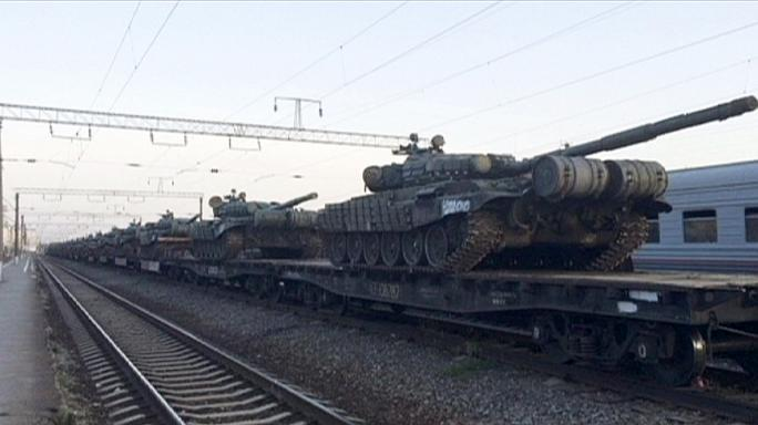 Russia 'amassing artillery' near border with eastern Ukraine, reports suggest