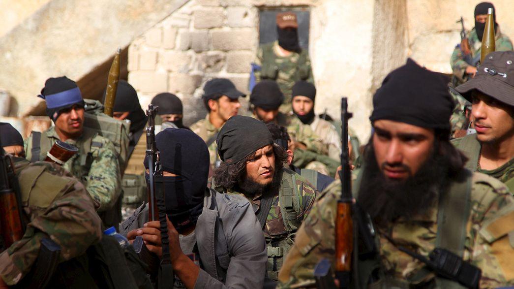 Syrian rebels seize last city in Idlib province, eye Damascus