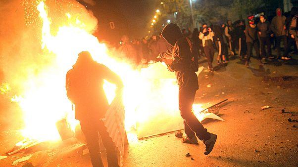 تظاهرات دانشجویات معترض به سیستم آموزشی در سانتیاگو