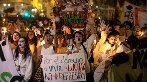 Graves disturbios tras una protesta de estudiantes en Chile