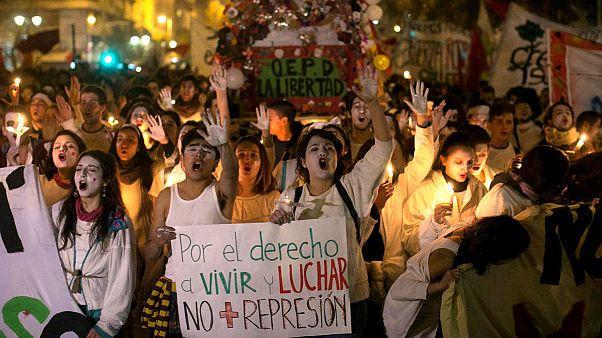 به خشونت کشیده شدن تظاهرات دانشجویی در شیلی
