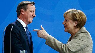 Berlino, Cameron incontra la Merkel: ''Il Regno Unito in una Unione Europea riformata''