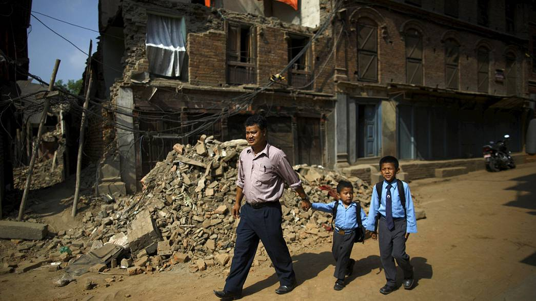 Nepal schools reopen one month after devastating earthquakes