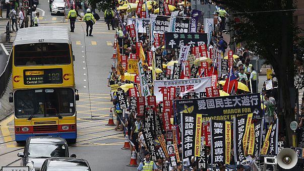 Hong Kong'da Tiananmen protestosu