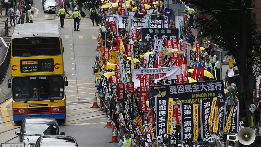 Hong Kong march remembers Tiananmen Square