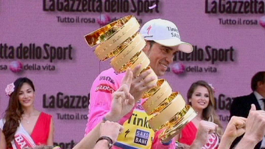 Giro: Contador sul primo gradino a Milano, Aru secondo ma convincente