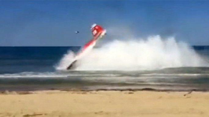 مقتل طيار إيطالي إثر اصطدام طائرتي تدريب