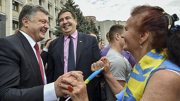 الرئيس الجورجي السابق ساكاشفيلي يُمنح الجنسية الأوكرانية ويُعين حاكما لمنطقة أوديسا الأوكرانية