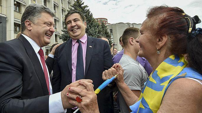 Egy ukrán megye kormányzója lett a volt grúz elnök