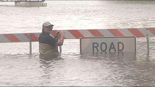 جاری شدن سیل در تگزاس