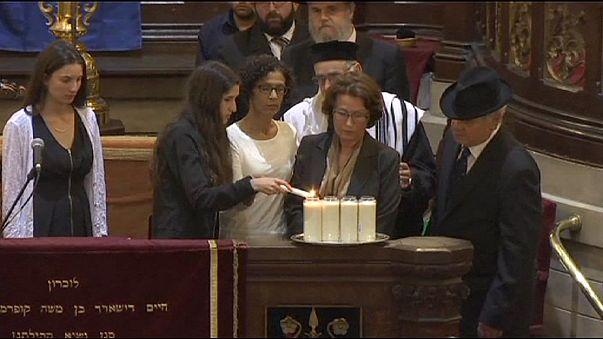 Homenaje en la Gran Sinagoga de Bruselas a las víctimas del atentado del Museo Judío