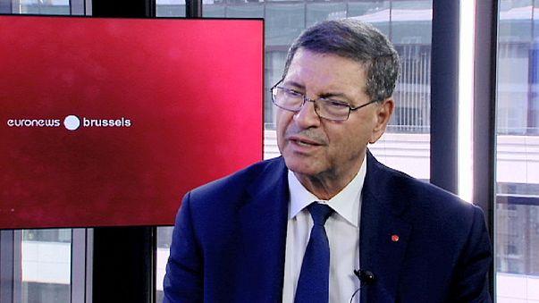 """رئيس الحكومة التونسية حبيب الصيد ليورونيوز:""""تشديد الرقابة على حدودنا..استراتيجيتنا لمحاربة الإرهاب"""""""