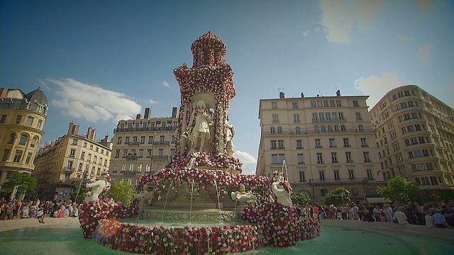 Un parfum de rose a envahi Lyon