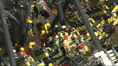 Four seriously injured in UK rollercoaster crash