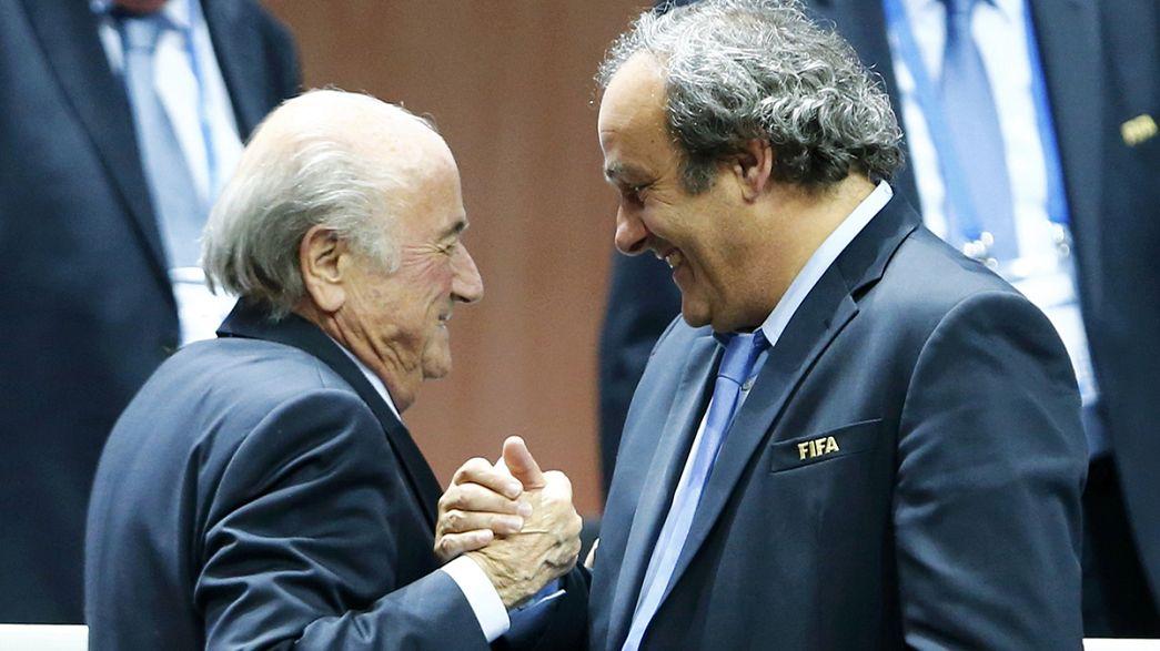 Dimissioni Blatter: toni soddisfatti da Platini e Figo