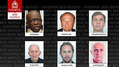 Former FIFA officials on Interpol wanted list