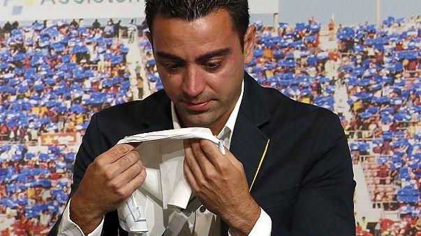 Xavi's emotional goodbye to Barcelona