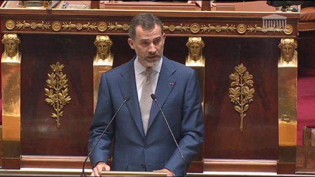Le roi d'Espagne célèbre l'amitié avec la France dans l'Europe