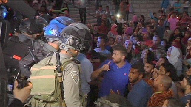 Kudüs'te Filistinlilere 'sersemletici el bombası' ile müdahale