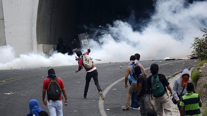 В Мексике произошли столкновения студентов с полицией